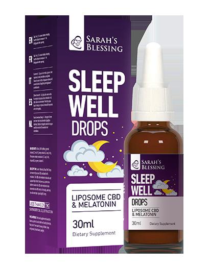 Schlaf-gut-Tropfen Liposomen-CBD+Melatonin, 30 ml