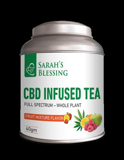 Mit CBD versetzter Tee Fruchtmischung